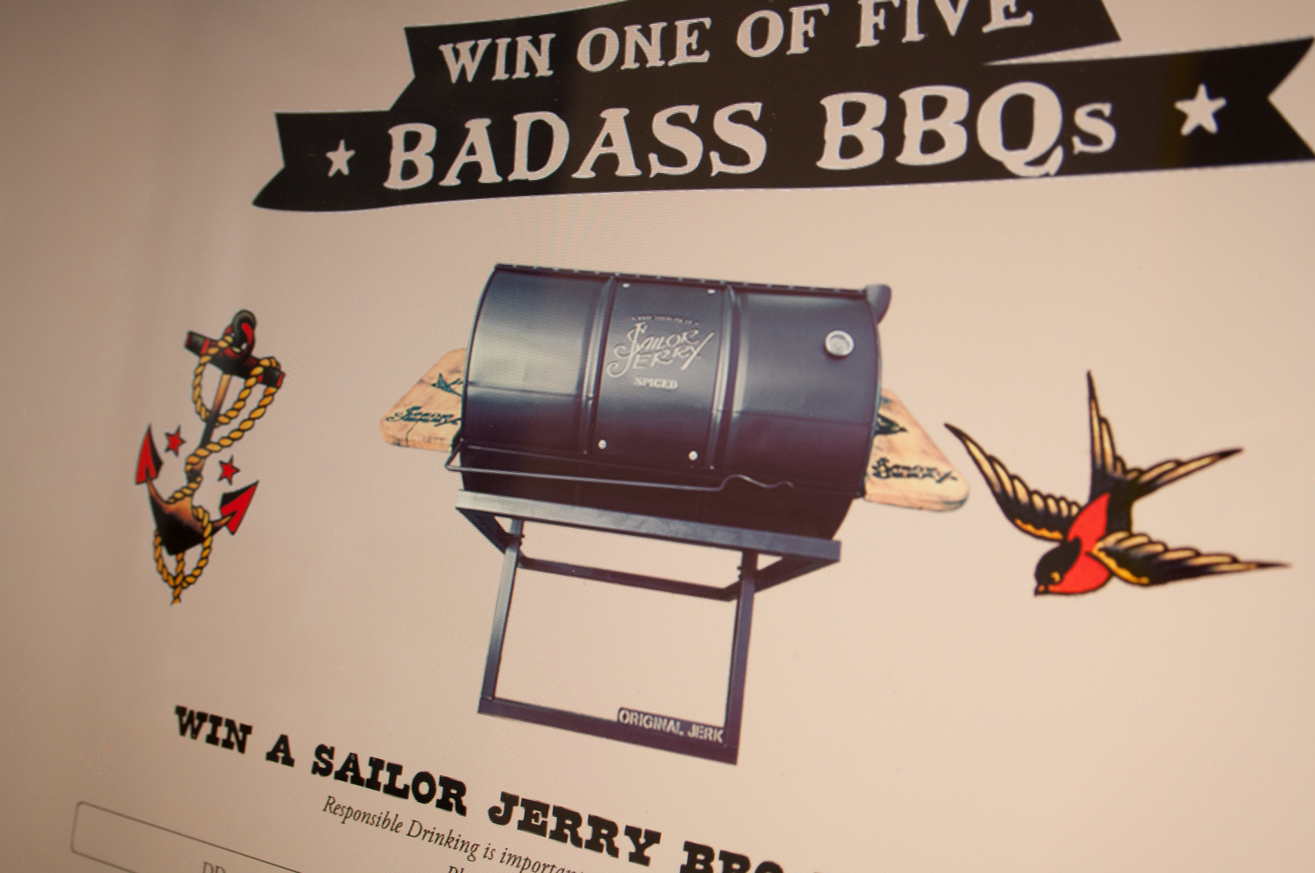 Sailor Jerry BBQ Micorsite