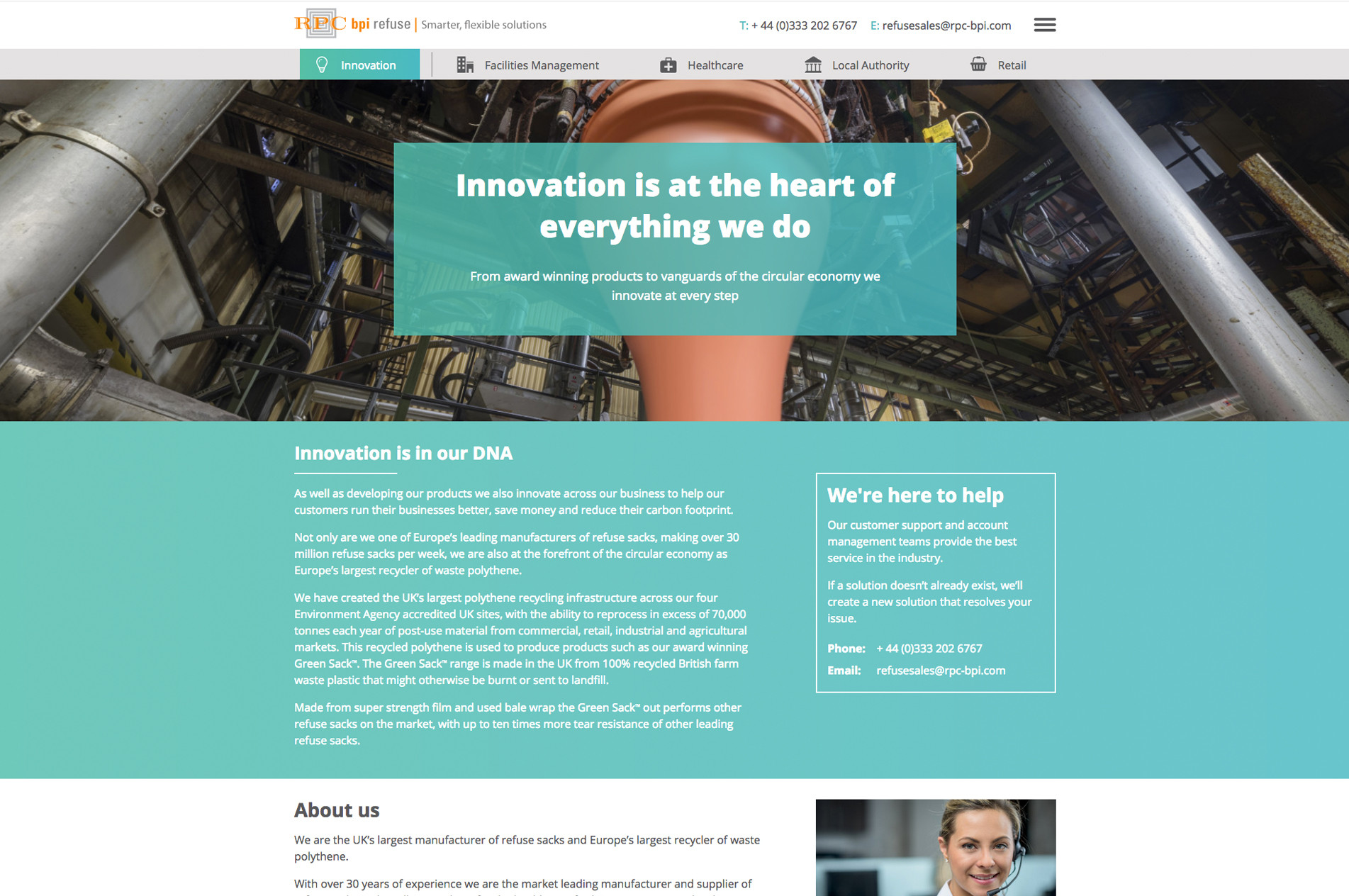 Innovation page
